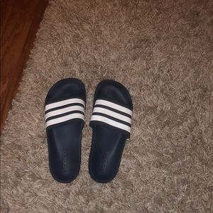 adidas 3 striped slides
